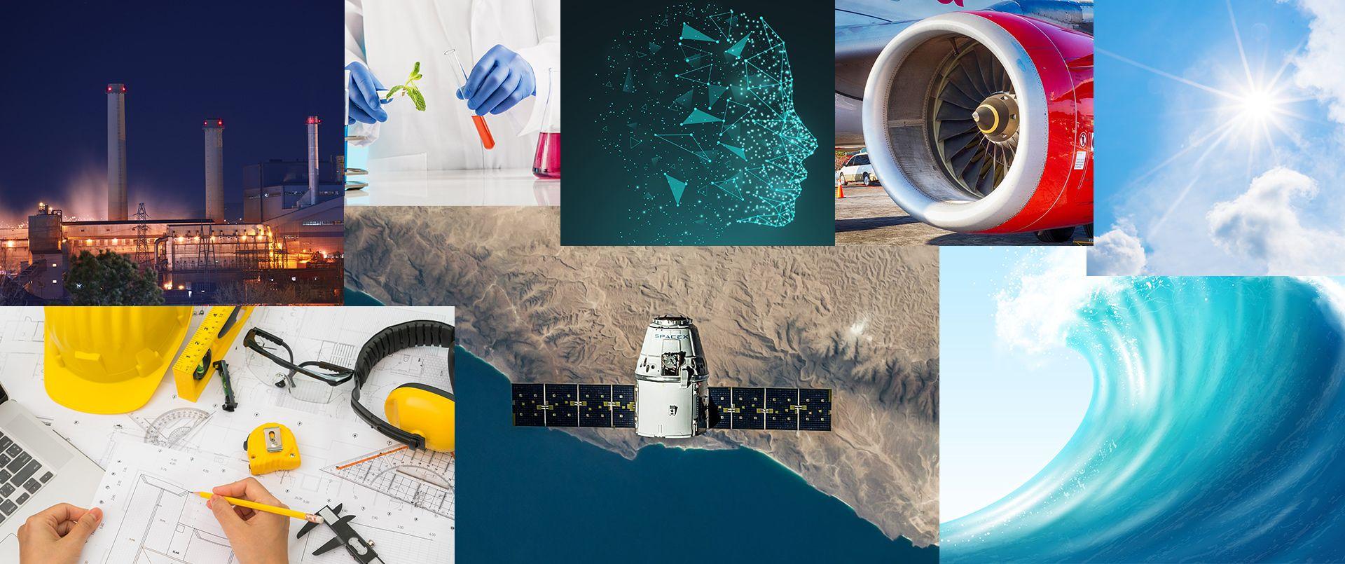 High performance computing (HPC) collage